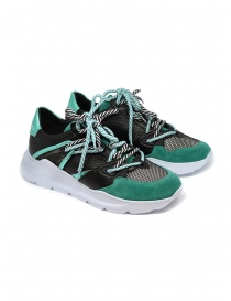 Leather Crown Border Line Sneakers Black Emerald Green WBRDL AERO DONNA 307 order online