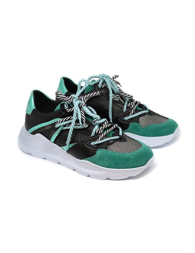 Sneakers Leather Crown Border Line Nere Verde Smeraldo WBRDL AERO DONNA 307 calzature donna online shopping