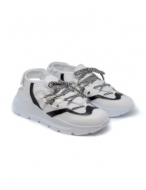 Leather Crown Sneakers WRNG Open white black WRNG OPEN AERO 304 order online