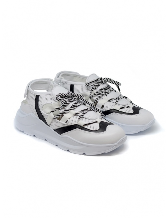 Leather Crown Sneakers WRNG Open white black WRNG OPEN AERO 304 womens shoes online shopping