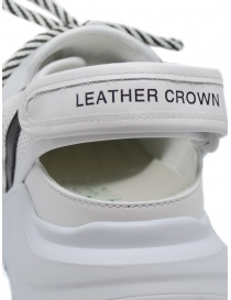 Leather Crown Sneakers WRNG Open white black womens shoes price