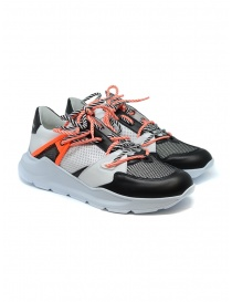 Calzature uomo online: Sneaker Leather Crown Border Line arancio nero
