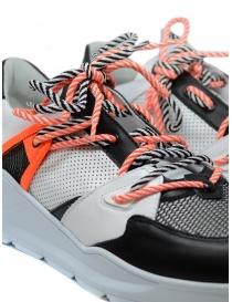 Leather Crown Border Line Sneakers orange black mens shoes buy online