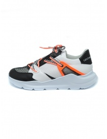 Leather Crown Border Line Sneakers orange black