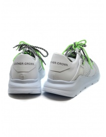 Leather Crown Border Line Sneakers neon green and white price