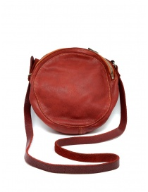 Guidi CRB00 crossbody round bag in red horse leather online