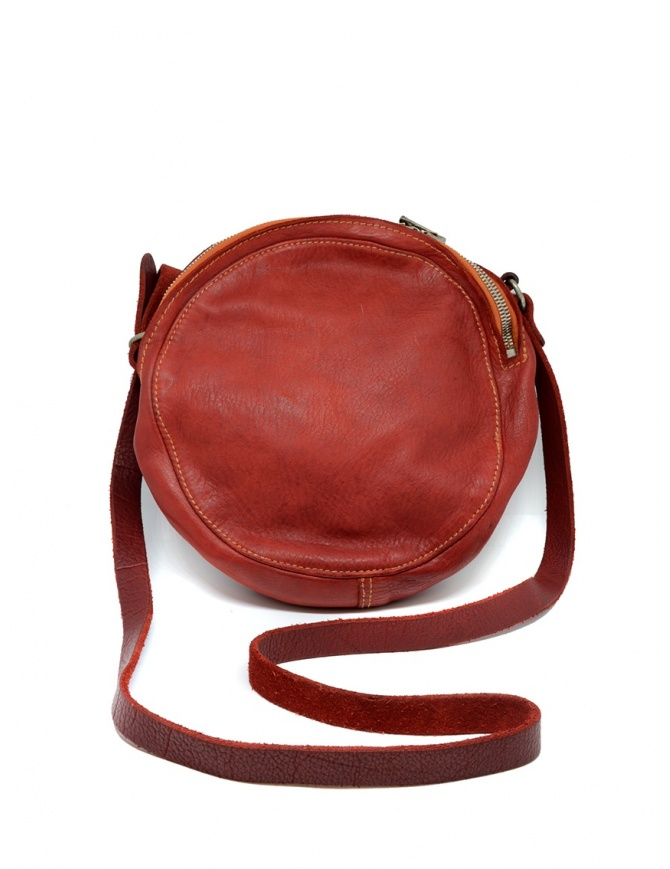 Guidi CRB00 crossbody round bag in red horse leather CRB00 SOFT HORSE FG 1006T bags online shopping