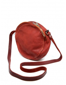 Guidi CRB00 crossbody round bag in red horse leather