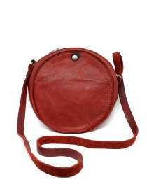 Guidi CRB00 crossbody round bag in red horse leather price