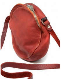 Guidi CRB00 crossbody round bag in red horse leather bags buy online