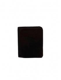 Guidi C8 portafoglio piccolo in pelle nera di canguro