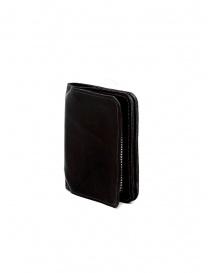 Guidi C8 portafoglio piccolo in pelle nera di canguro prezzo