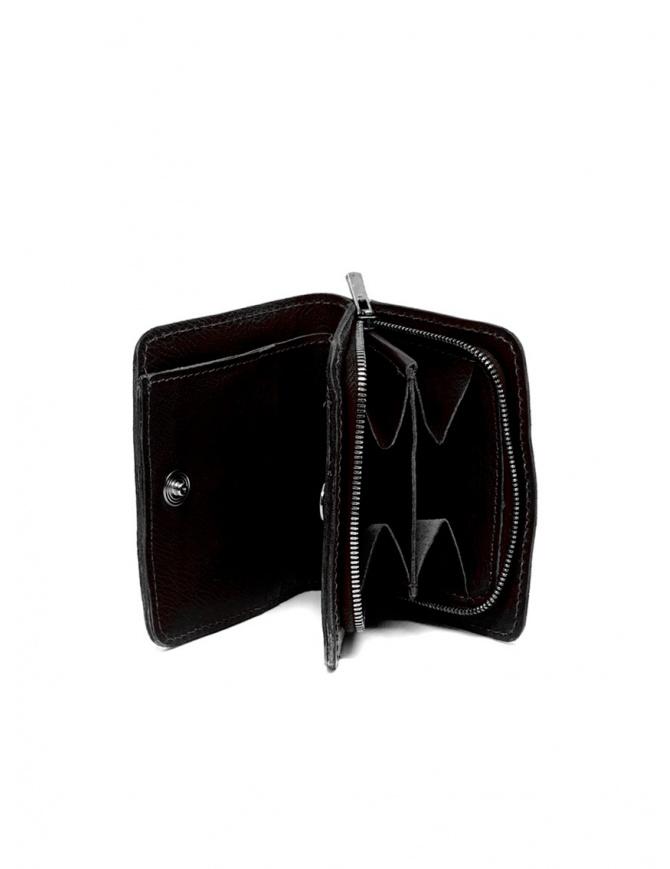 Guidi C8 portafoglio piccolo in pelle nera di canguro C8 KANGAROO FULL GRAIN BLKT portafogli online shopping