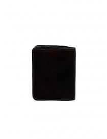 Guidi C8 portafoglio piccolo in pelle nera di canguro portafogli acquista online