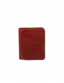 Guidi C8 1006T portafoglio piccolo rosso in pelle di canguro prezzo