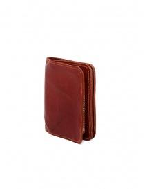 Guidi C8 1006T portafoglio piccolo rosso in pelle di canguro