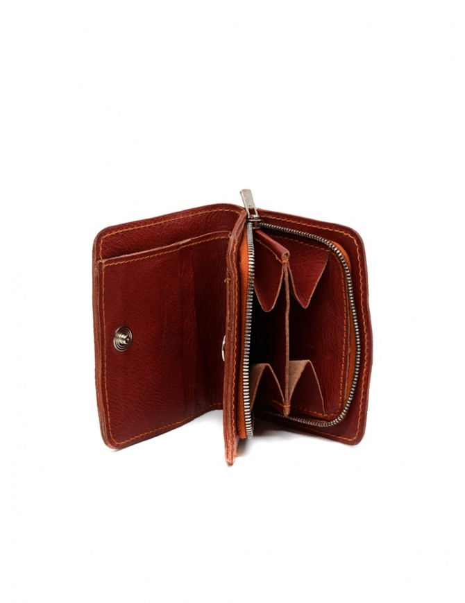 Guidi C8 1006T portafoglio piccolo rosso in pelle di canguro C8 KANGAROO FULL GRAIN 1006T portafogli online shopping