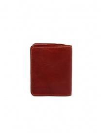 Guidi C8 1006T portafoglio piccolo rosso in pelle di canguro portafogli acquista online