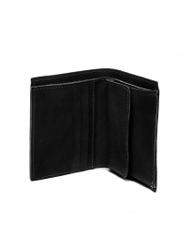 Guidi PT3 men's wallet in black kangaroo leather online