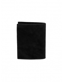 Guidi PT3 men's wallet in black kangaroo leather wallets buy online