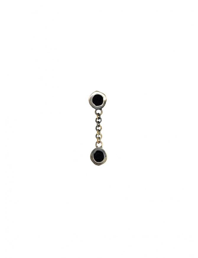 Orecchino Guidi pendente in argento e pelle G-OR03A SILVER 925 BLKT preziosi online shopping