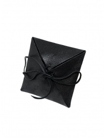 Guidi tubular ring in silver and black leather G-AN01P jewels price
