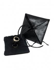 Anello Guidi tubolare in argento e pelle nera G-AN01P preziosi acquista online