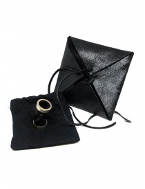Guidi tubular ring in silver and black leather G-AN01P jewels buy online