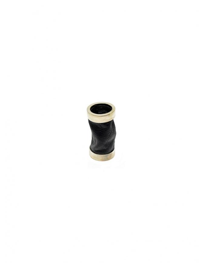 Anello Guidi tubolare in argento e pelle nera G-AN01P G-AN01P SILVER 925 CV39T preziosi online shopping