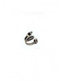 Preziosi online: Anello Guidi a spirale in argento con quadrati