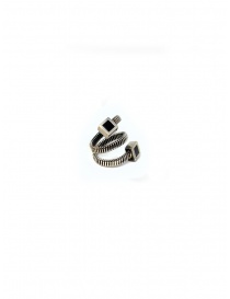 Jewels online: Guidi spiral ring with squares in silver