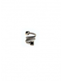 Guidi spiral ring with squares in silver