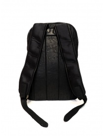 Guidi SP05 black expandable backpack in horse leather and nylon