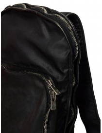 Guidi SP05 black expandable backpack in horse leather and nylon bags price