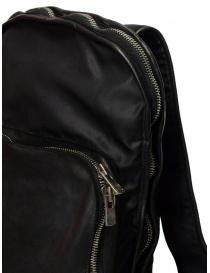 Zaino espandibile Guidi SP05 nero in pelle di cavallo e nylon borse prezzo