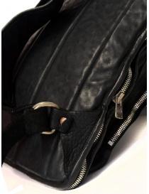 Zaino espandibile Guidi SP05 nero in pelle di cavallo e nylon acquista online prezzo