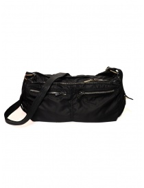 Guidi SP06 expandable black bag in nylon and horse leather online