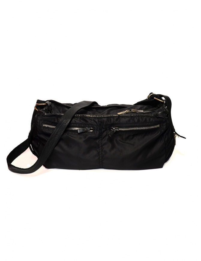 Guidi SP06 expandable black bag in nylon and horse leather SP06 SOFT HORSE FG+NYLON BLKT bags online shopping