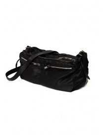 Guidi SP06 expandable black bag in nylon and horse leather price