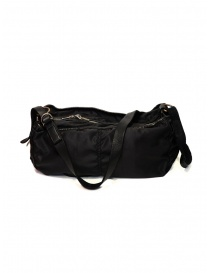 Guidi SP06 expandable black bag in nylon and horse leather bags buy online