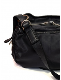 Guidi SP06 expandable black bag in nylon and horse leather bags price