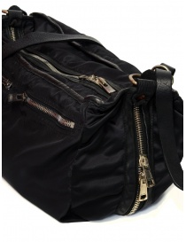 Guidi SP06 expandable black bag in nylon and horse leather