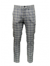 Selected Homme trousers with grey and blue squares 16067498 GREY/BLUE