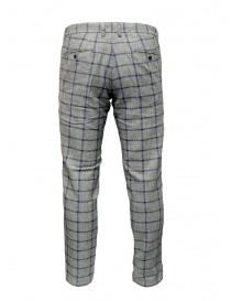 Selected Homme trousers with grey and blue squares buy online