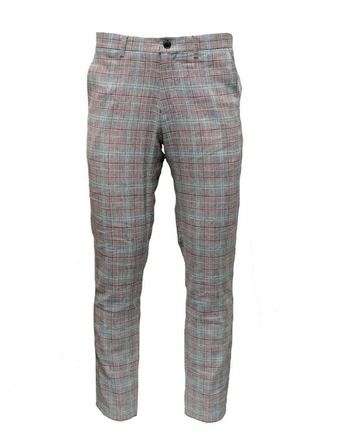 Pantaloni Selected Homme grigi completo a quadri 16067498 BLK/RED/WHT pantaloni uomo online shopping