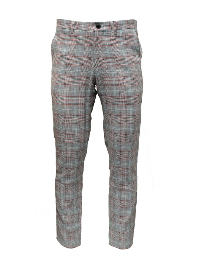 Selected Homme grey checkered suit trousers 16067498 BLK/RED/WHT mens trousers online shopping