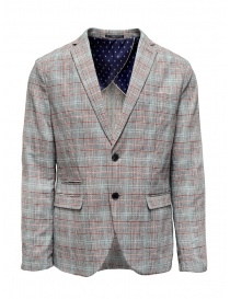 Mens suit jackets online: Selected Homme checkered grey suit jacket