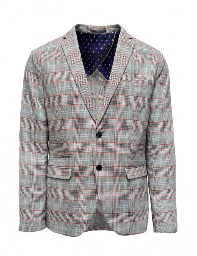 Selected Homme checkered grey suit jacket 16067388 BLK/RED/WHT mens suit jackets online shopping