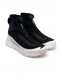 11 by Boris Bidjan Saberi black and white high-top sneakers online