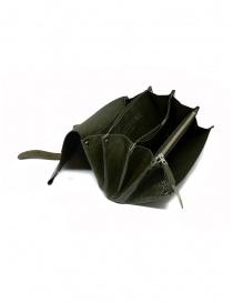 Delle Cose khaki calf leather wallet wallets buy online